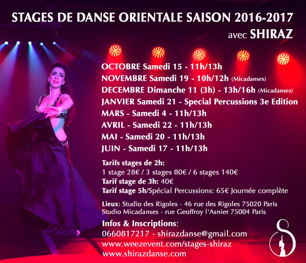 Stages danse orientale