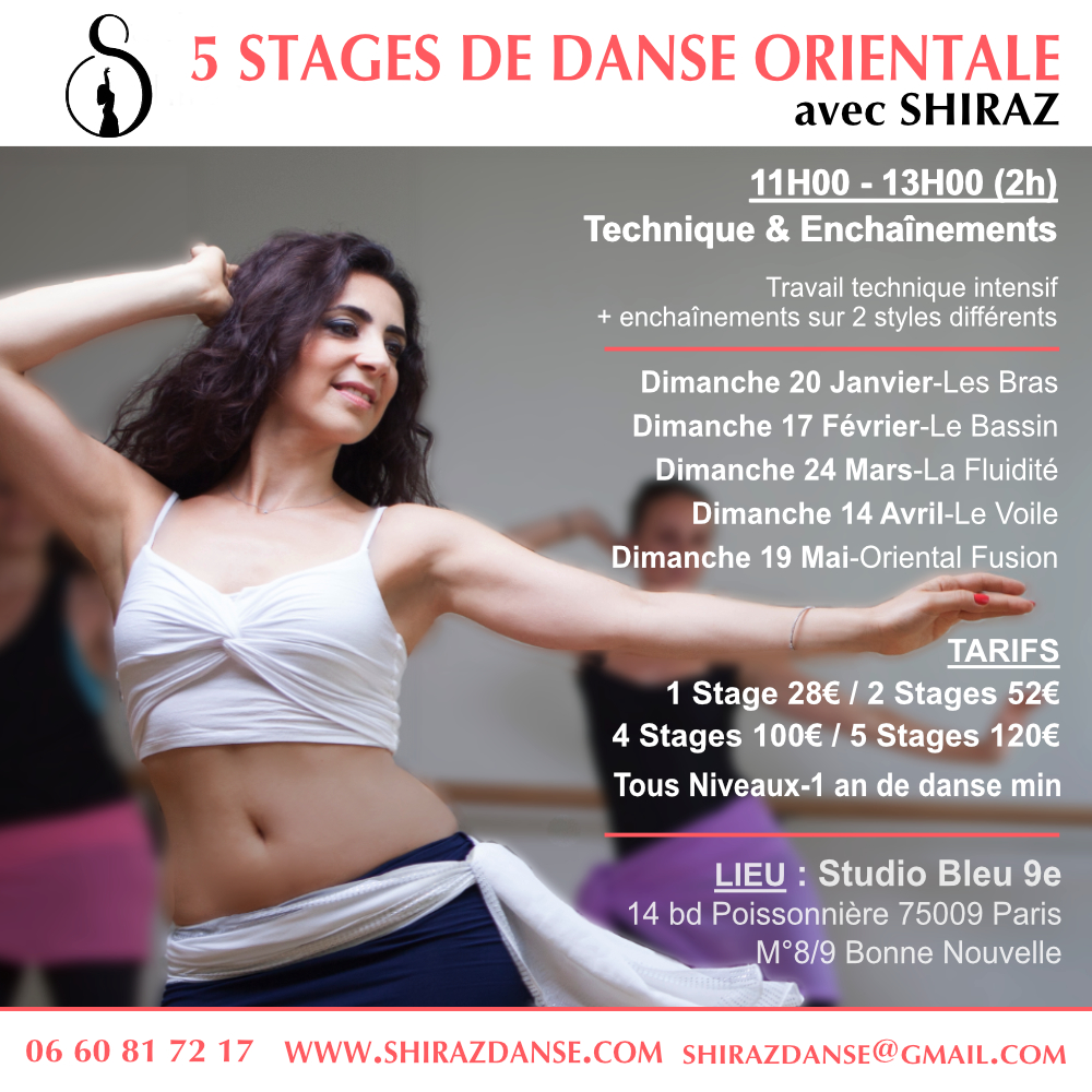 Stages de danse orientale à paris