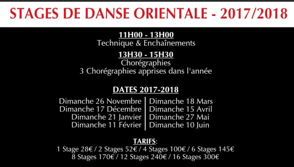 stages de danse orientale