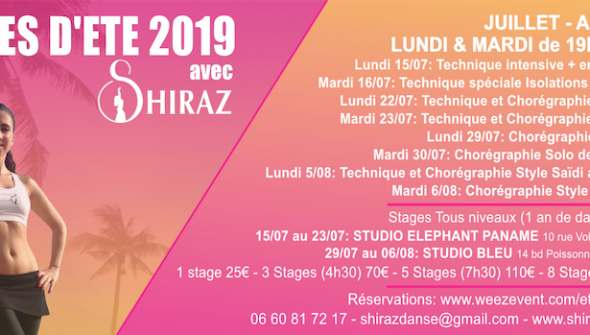 Stages de danse orientale 2019